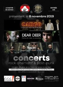 Concert Frontiere Rock le 08 novembre 2019
