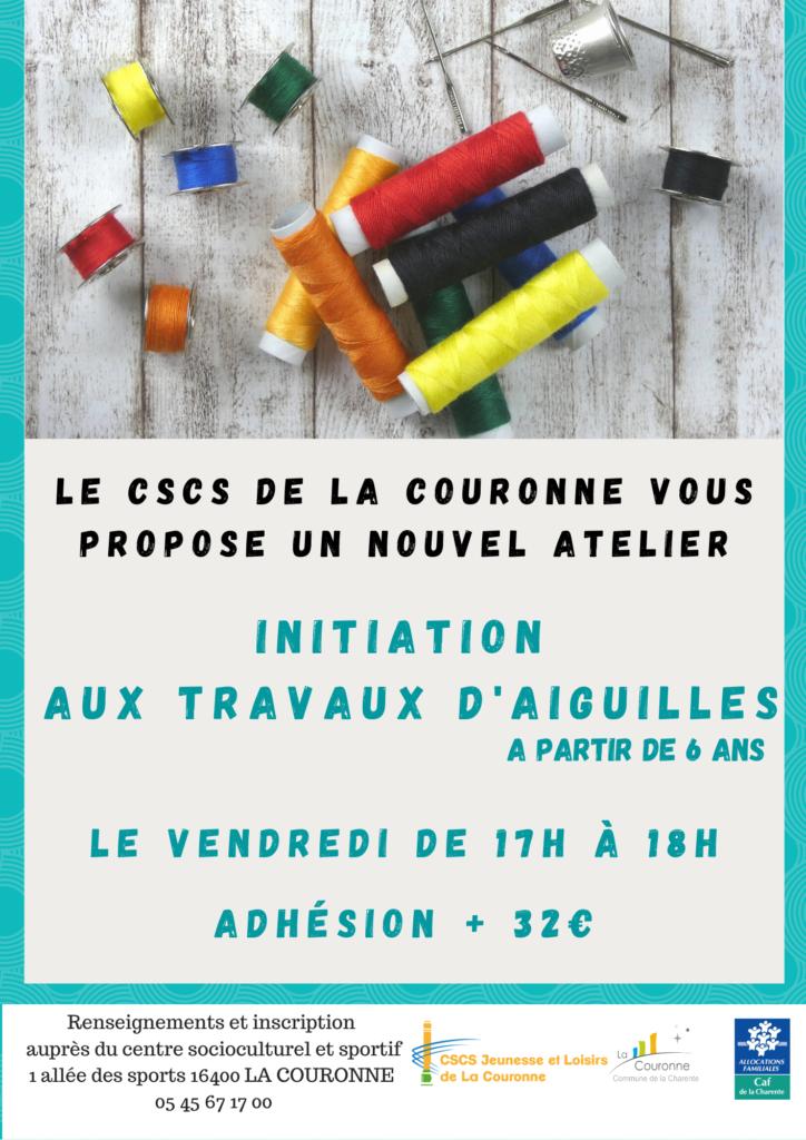 INITIATION TRAVAUX D'AIGUILLES